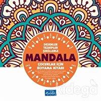 Desenler Tezhipler Şekillerle Mandala - Turuncu Kitap