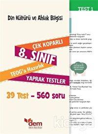 8. Sınıf TEOG Din Kültürü ve Ahlak Bilgisi Çek Koparlı Yaprak Testler