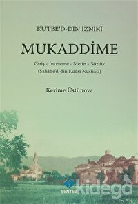 Kutbe'd-Din İzniki Mukaddime