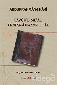 Savgu'l Meal Fi-Neşr-i Nazm-ı Le'al