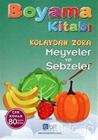 Boyama Kitabı - Kolaydan Zora Meyveler ve Sebzeler