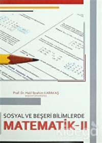 Sosyal ve Beşeri Bilimlerde Matematik - 2