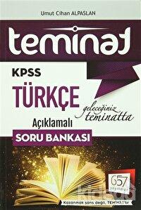 2016 KPSS Teminat Türkçe Açıklamalı Soru Bankası