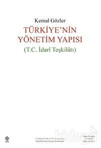 Türkiye'nin Yönetim Yapısı (T.C İdari Teşkilatı)