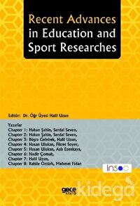 Recent Advances in Education and Sport Researches