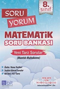 8. Sınıf Soru Yorum Matematik Soru Bankası