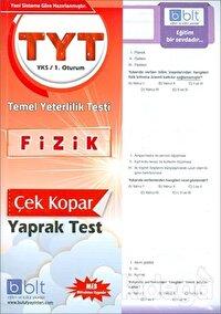 TYT - YKS 1. Oturum Fizik Çek Kopar Yaprak Test