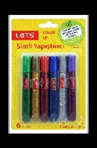Lets Simli Yapıştırıcı 6 Renk 6 Gr.