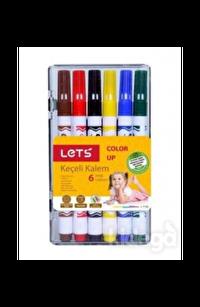 Lets Keçeli Kalem 6 Renk Yarım Boy