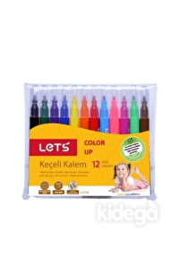 Lets Keçeli Kalem 12 Renk Yarım Boy L-7110