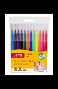 Lets Keçeli Kalem 12 Renk