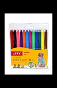 Lets Jumbo Keçeli Kalem 12 Renk