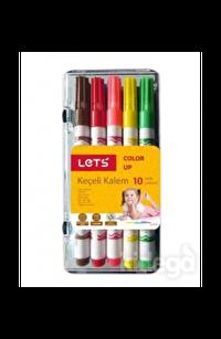 Lets Keçeli Kalem 10 Renk Yarım Boy