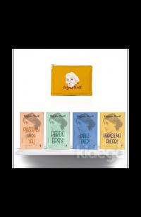 Sarı Eskitme Desenli Clutch-Cüzdan Hediyeli - Virginia Woolf Seti-  4 Kitap Takım