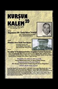 Kurşun Kalem Üç Aylık Edebiyat Dergisi Sayı: 39 Ocak-Şubat-Mart 2016