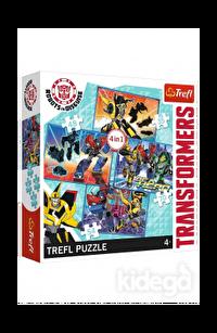 Trefl Puzzle Transformers Transformation Time 4'lü 35+48+54+70 Parça