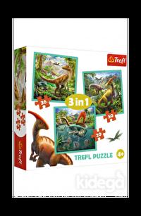 Trefl Puzzle World Of Dinosaur 3'lü 20+36+50 Parça
