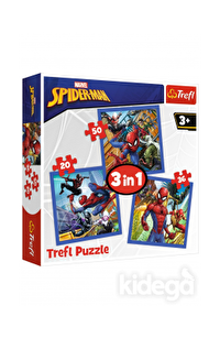 Trefl Puzzle Spiderman Spider Force 3'lü 20+36+50 Parça