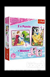 Trefl Puzzle Marvelous Princess World 2'li 30+48 Parça