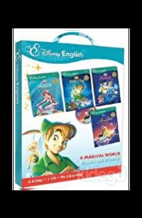 Disney English-A Magical World Sihirli Bir Dünya - 4 Kitap-1 Cd-96 Çıkartma