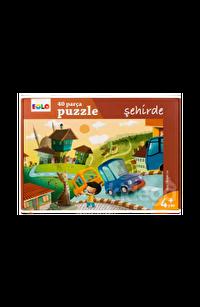40 Parça Yer Puzzle- Şehirde