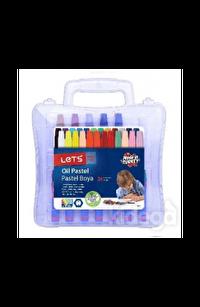 Lets 24 Renk Pastel Boya Plastik Çantalı