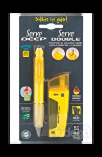 Serve Deep Versatil Kalem + 2B 80 Adet Min+Silgi 0.7 mm Sarı