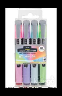 Serve Likit 4'lü İşaretleme Kalemi Pastel Set