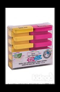 Serve Steps Silgi Fosforlu Sarı-Pembe 2'li Paket