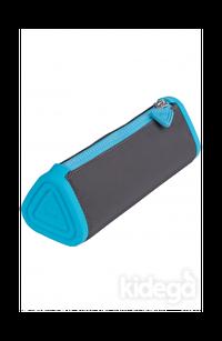 Serve Prismo Üçgen Kalem Çantası Koyu Gri Fosforlu Mavi
