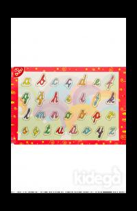 BuBu Ahşap Puzzle - El Yazısı Harfler