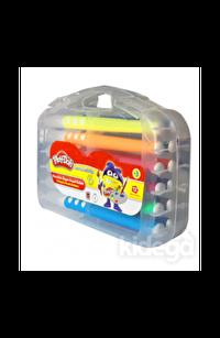 Play-Doh 12 Renk Üçgen Fırça Uçlu Kalem PP Kutulu