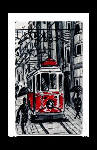 Mabbels Nostaljik Tramvay Mıknatıslı Kitap Ayracı