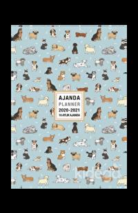 Akademi Çocuk 2020-2021 16 Aylık Ajanda Lovely Dogs 3083