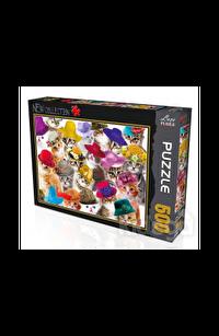Kediler 500 Parça Puzzle