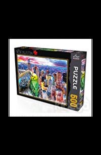 Kuşlar Şehir 500 Parça Puzzle