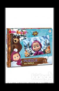 Laço Kids Masha Koca Ayı 100 Parça Kutulu Puzzle