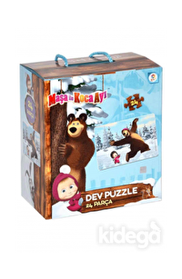 Laço Kids Masha Koca Ayı Dev Puzzle (Yer Puzzle'ı)
