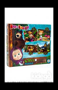 Laço Kids Masha Koca Ayı 4'lü Puzzle