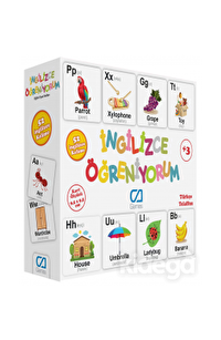İNGİLİZCE ÖĞRENİYORUM Eğitici Oyun Kartları (CA.5044)