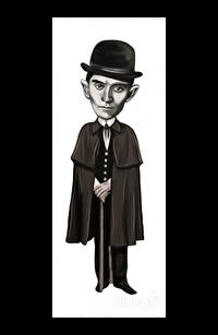 Franz Kafka (Karikatür) - Ayraç