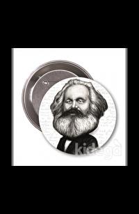 Karl Marx (Karikatür) - Rozet