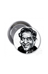 Gabriel Garcia Marquez (Karikatür) - Rozet