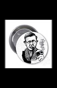 Jean-Paul Sartre (Karikatür) - Rozet
