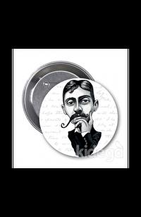 Marcel Proust (Karikatür) - Rozet