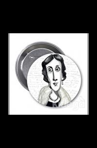 Virginia Woolf (Karikatür) - Rozet
