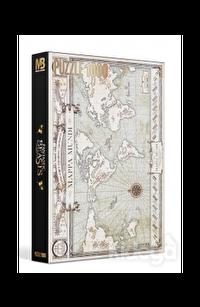 Fantastik Canavarlar 1000 Parça Dünya Haritası Puzzle