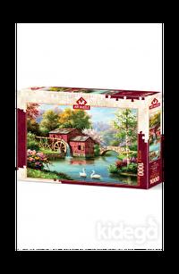Art Puzzle Kırmızı Eski Değirmen 1000 Parça