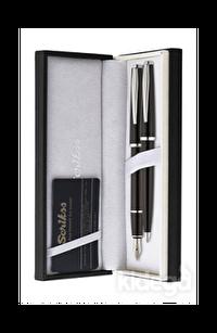 Scrikss Vintage 33 Dolma Kalem ve Tükenmez Kalem İkili Seti - Siyah