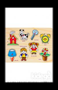 BuBu Ahşap Puzzle - Eşyalar